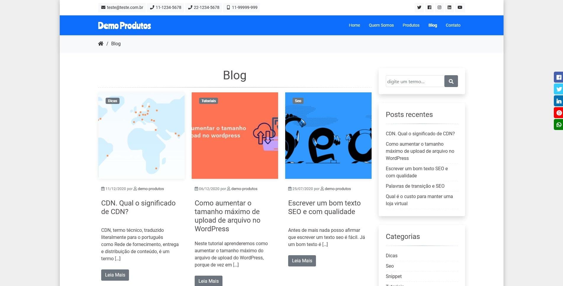 Site Catálogo de Produtos2