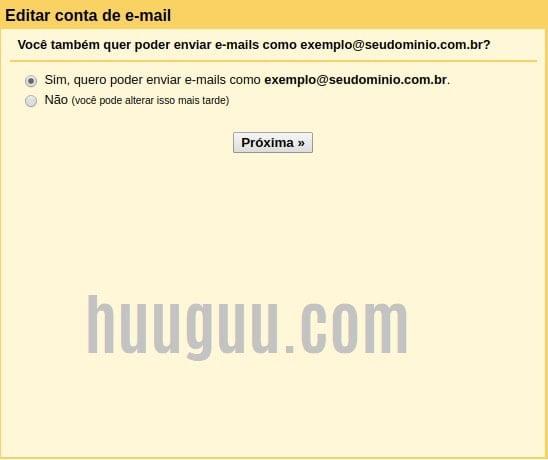 ADICIONAR conta de email no Gmail - tela 5
