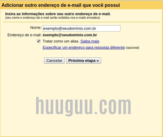 Configurando sua conta de email - tela 6