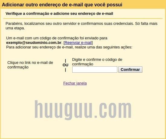 Configurando sua conta de email - tela 8