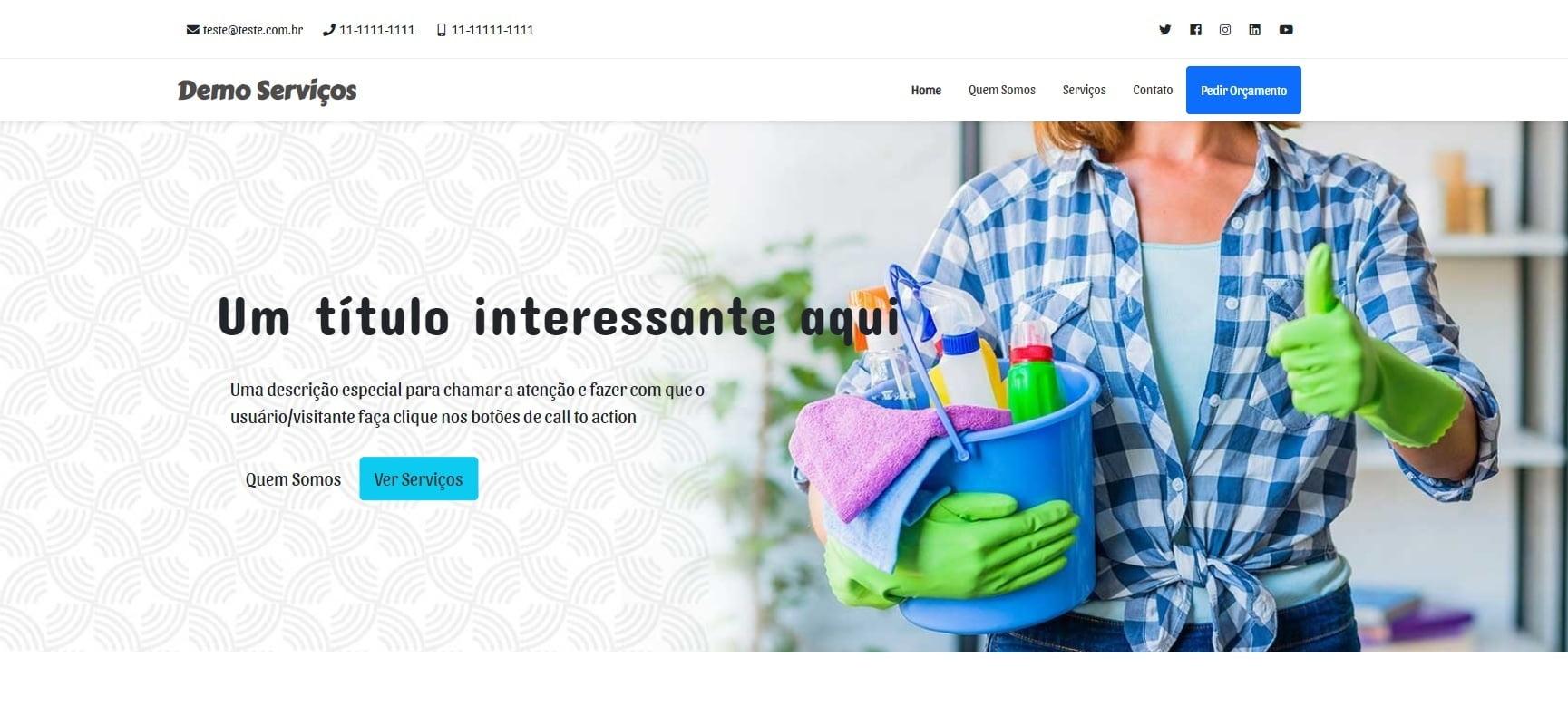 Site Catálogo de Serviços
